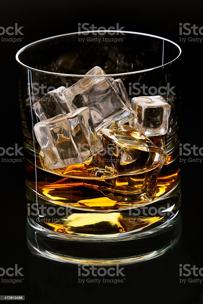 glass with alcohol stock photo