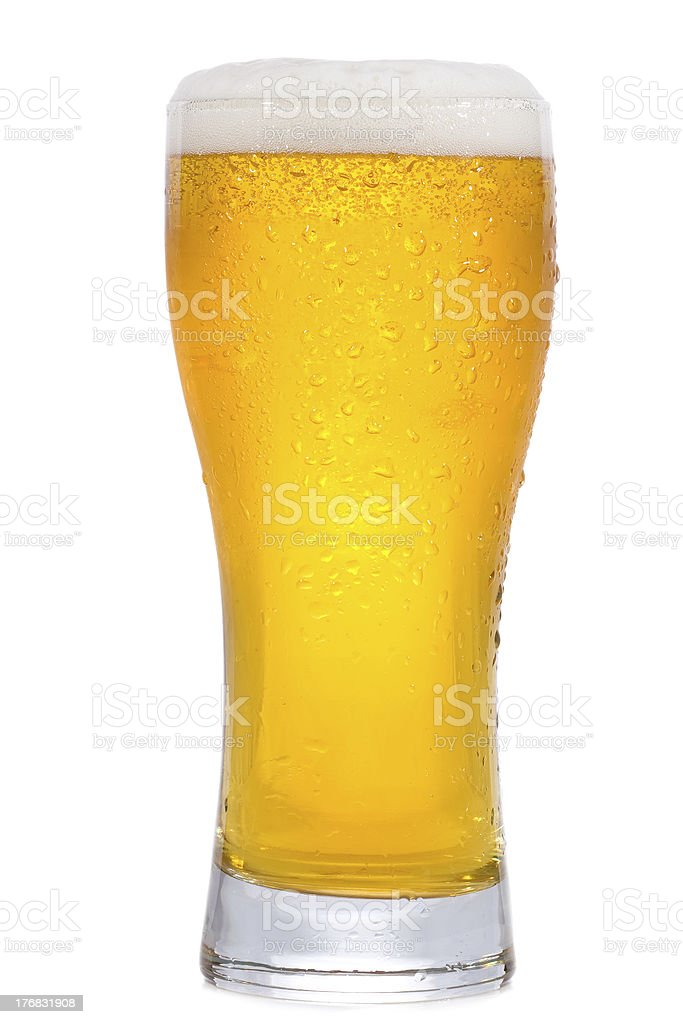 glass with beer stock photo