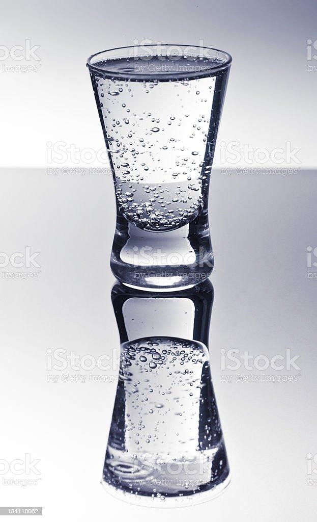 Szkło z czystą mineralne zbiór zdjęć royalty-free