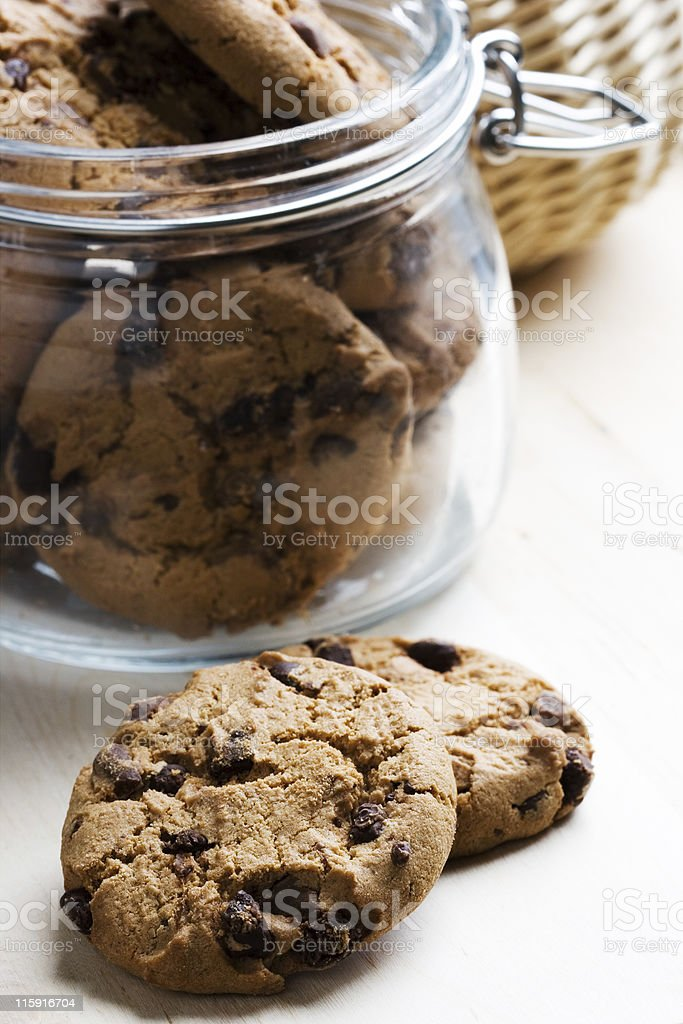 Glass with cookies royalty-free stock photo