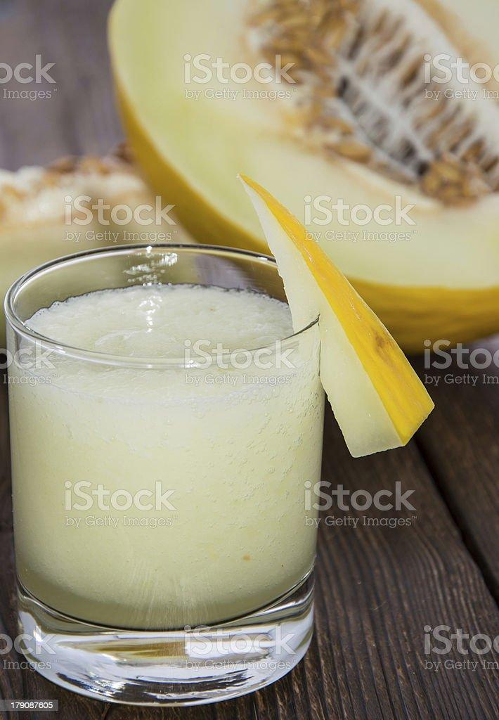 Glass with fresh Honeydew Juice royalty-free stock photo