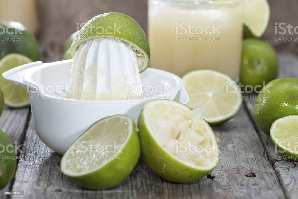 Glass with fresh made Lime Juice stock photo