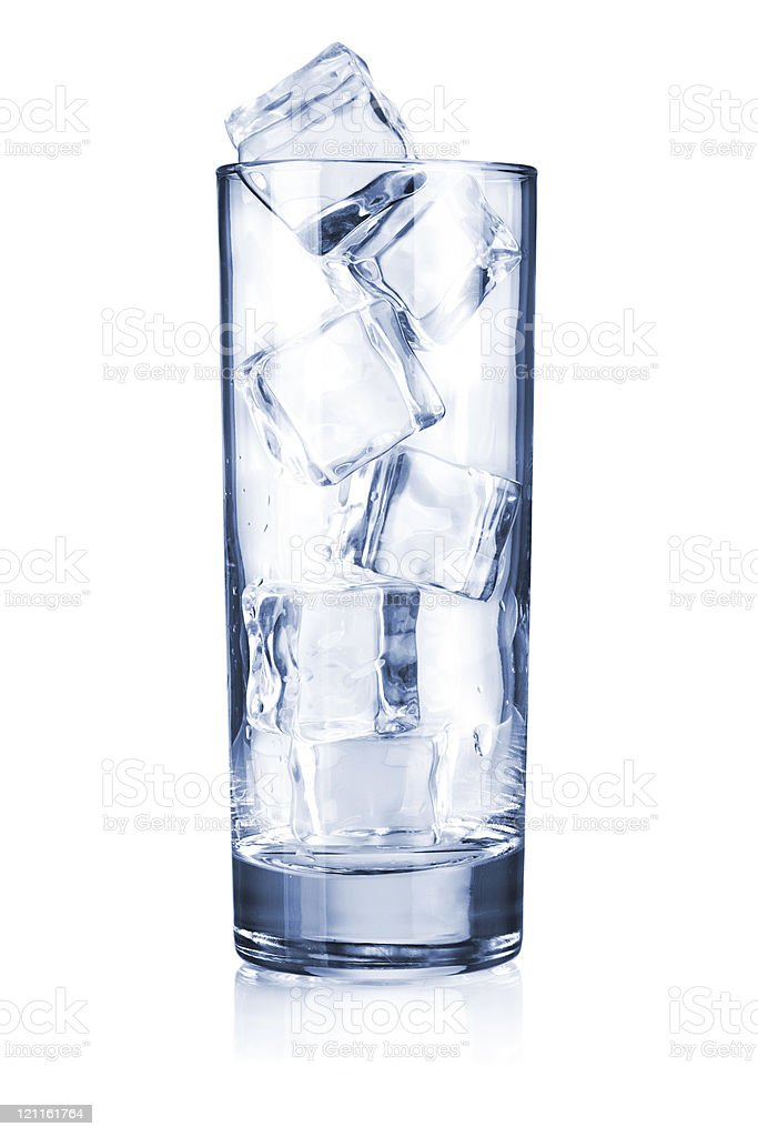 Glass with ice cubes royalty-free stock photo