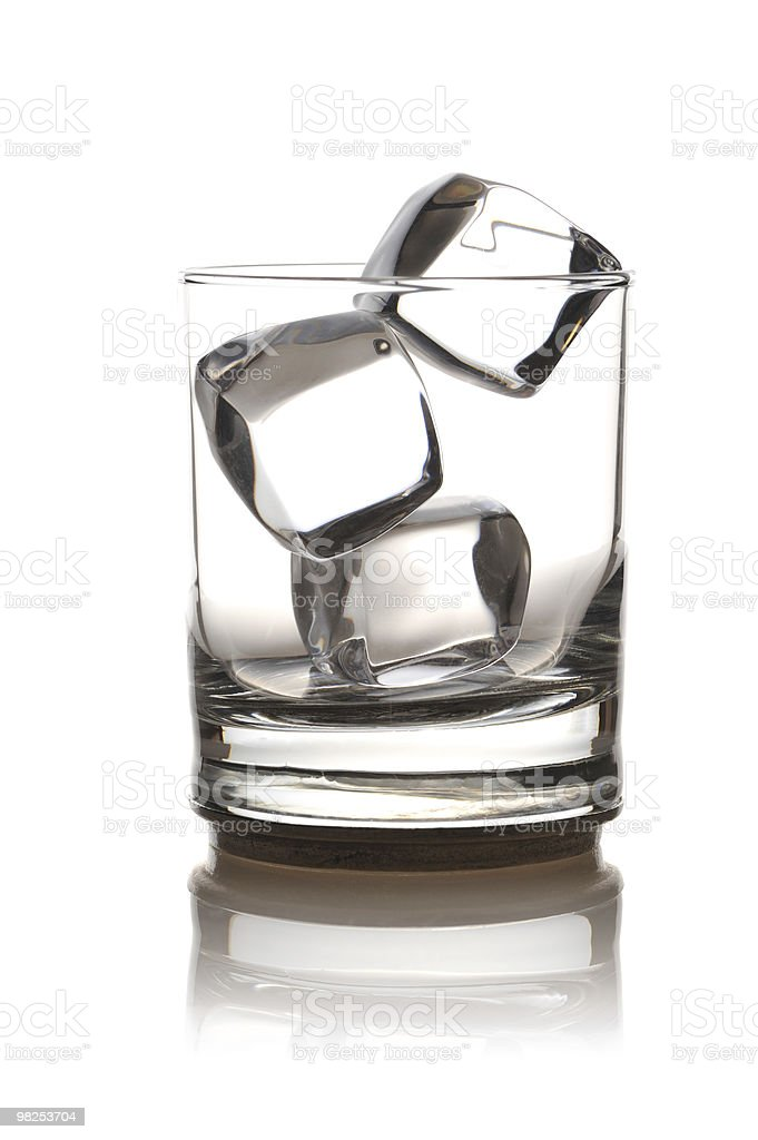 Glass with ice royalty-free stock photo