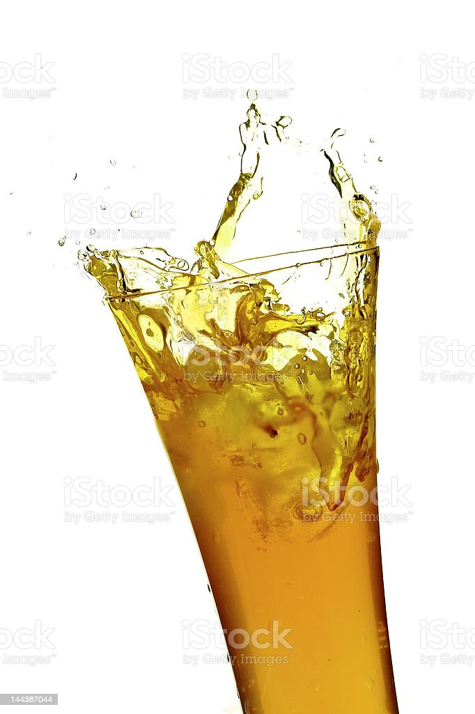 glass with juice royalty-free stock photo