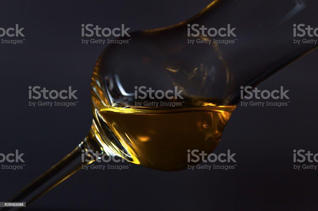 Glass with liquor stock photo