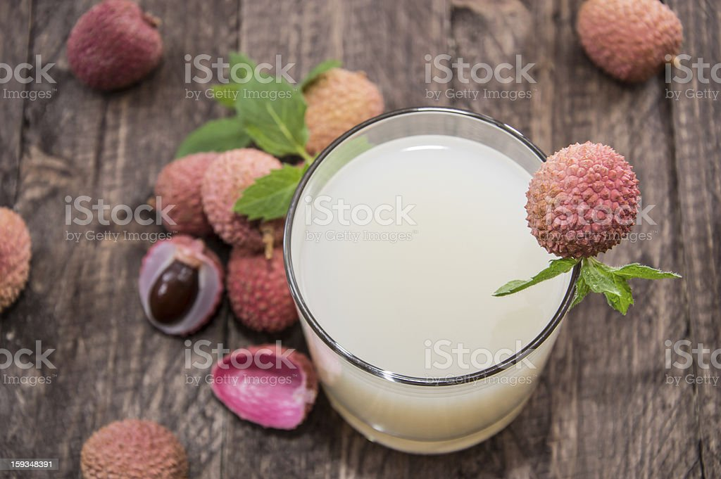 Glass with Lychee Juice stock photo