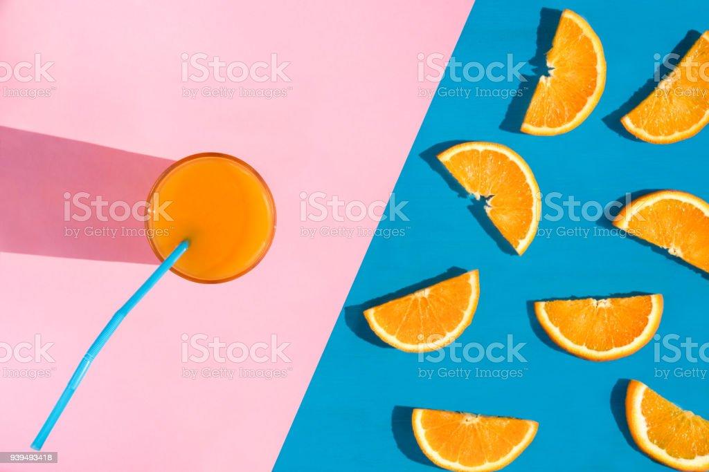 Verre de jus d'orange photo libre de droits