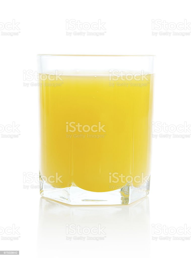Glass with orange juice royalty-free stock photo
