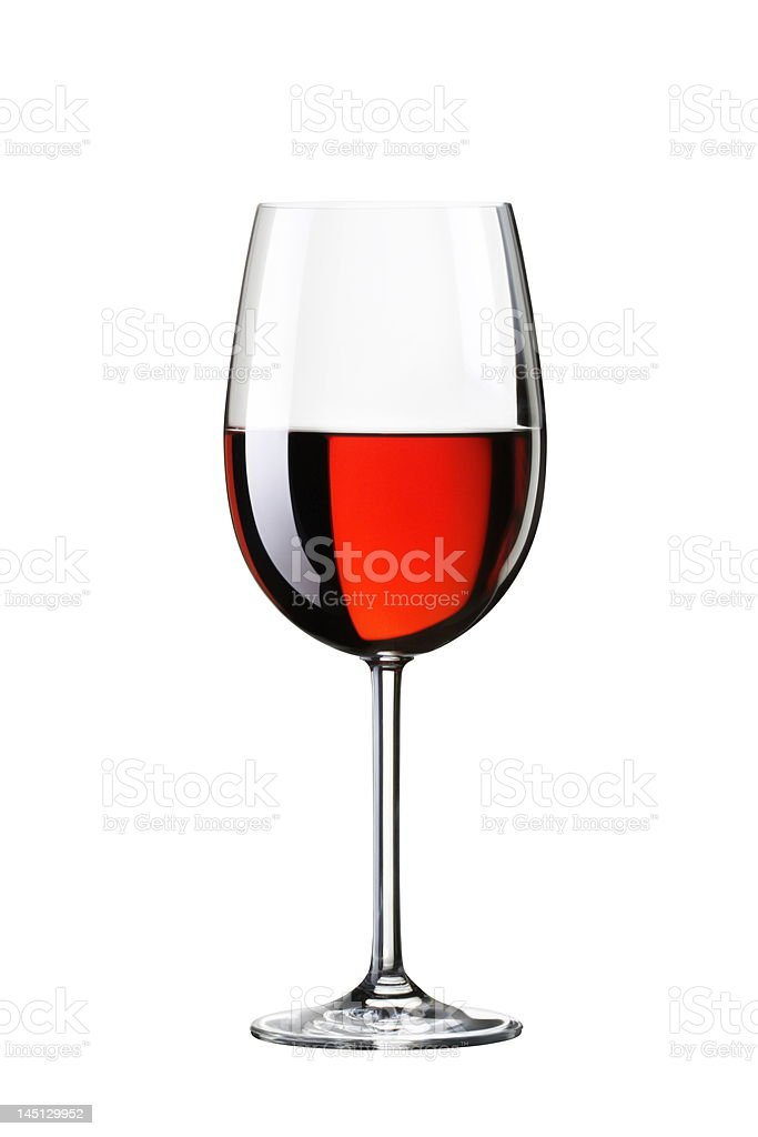 Glass with red wine. Isolated on white background royalty-free stock photo
