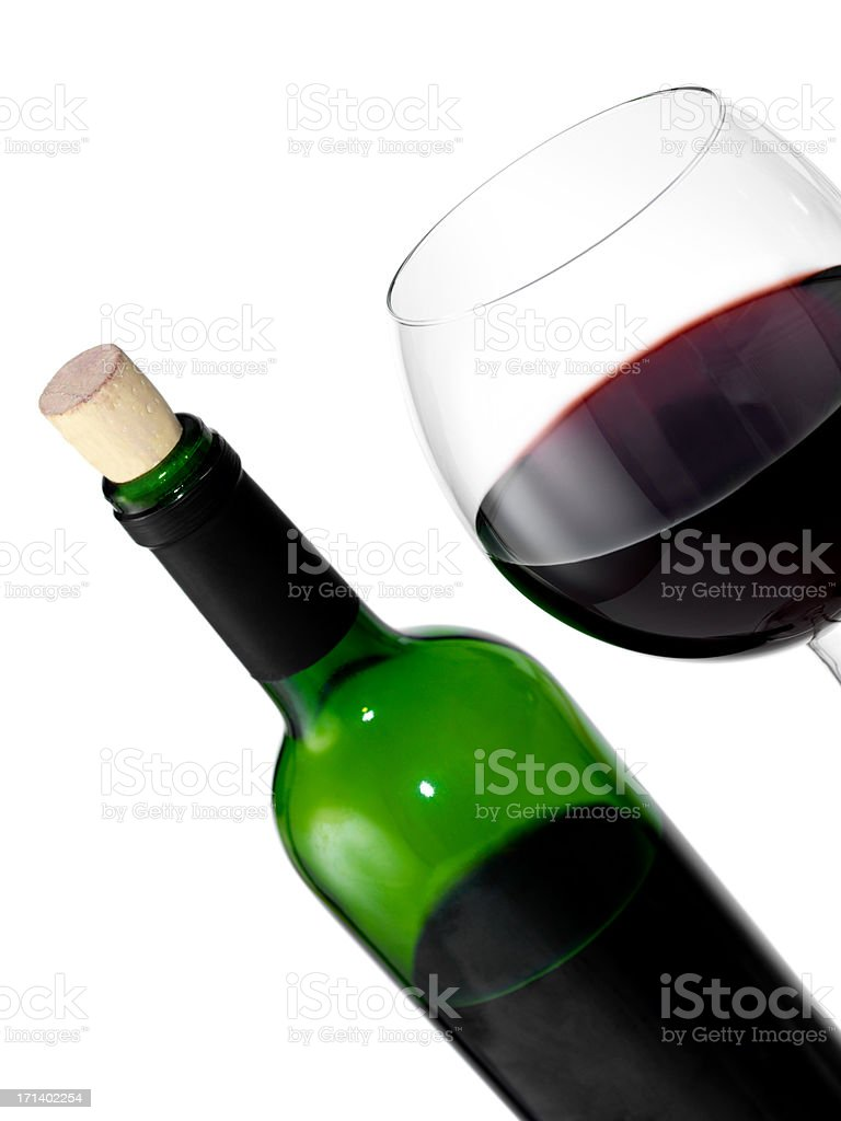 Glass with red wine royalty-free stock photo