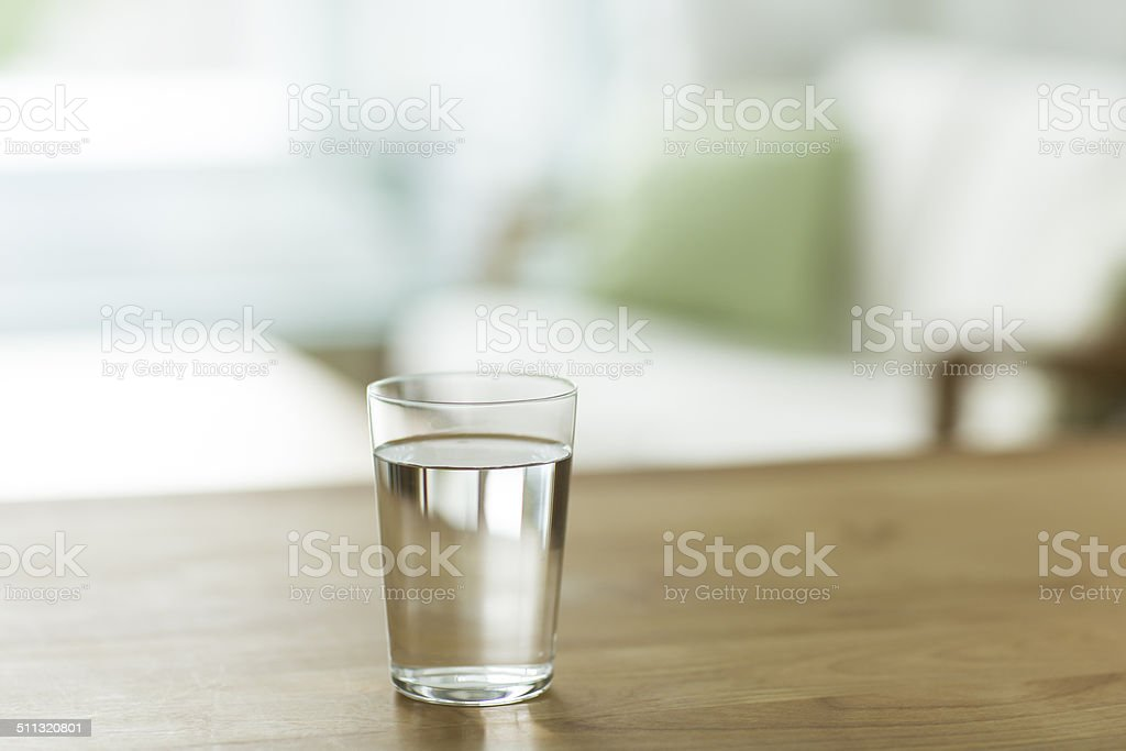 Glass with the water stock photo