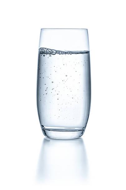 グラス、水、白い背景 ストックフォト