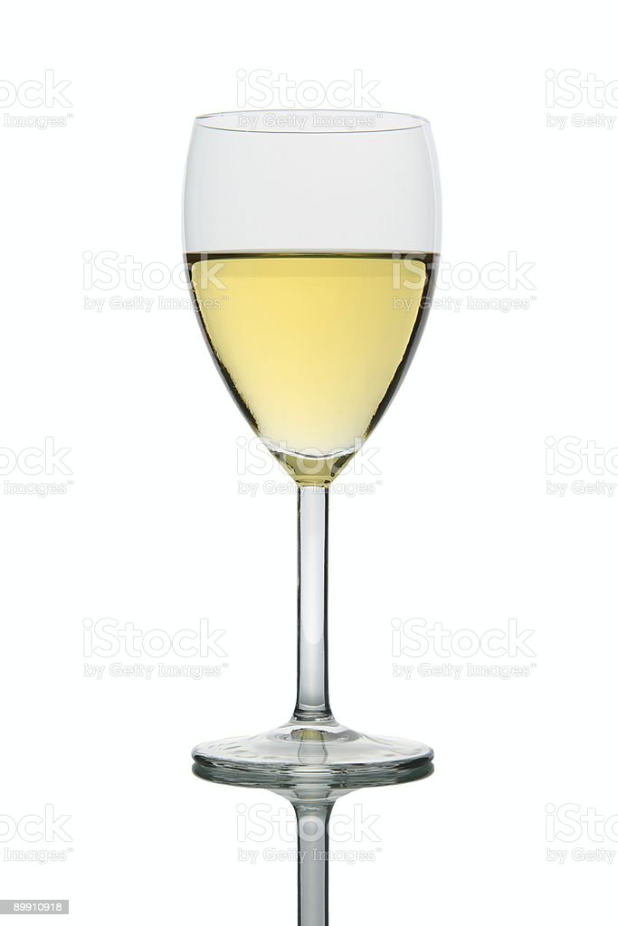 Glass with white Wine stock photo
