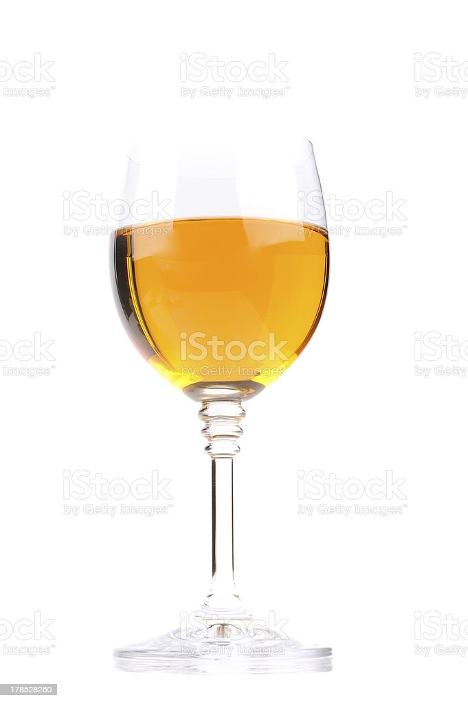Glass with wine isolated on white background royalty-free stock photo