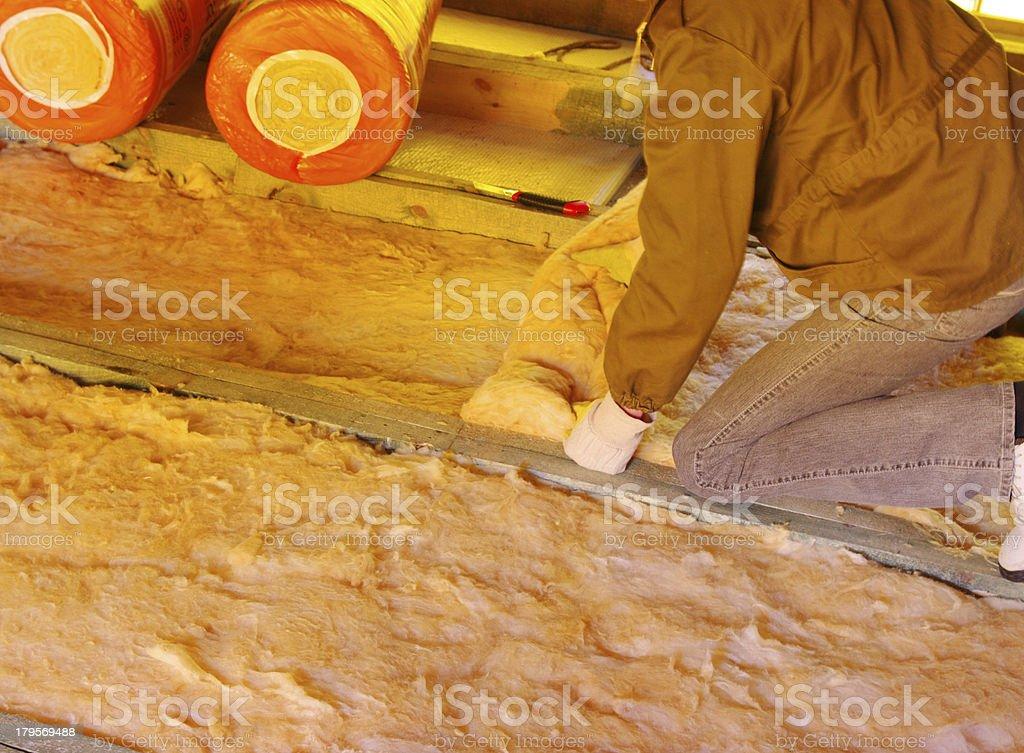 glass wool stock photo