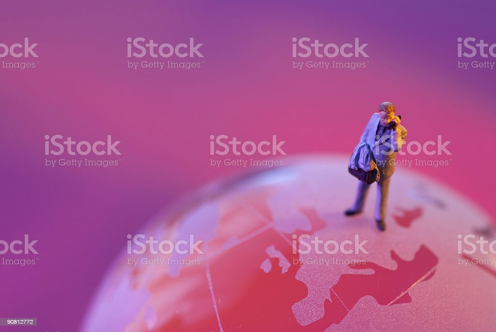 Glass World and businessman royalty-free stock photo