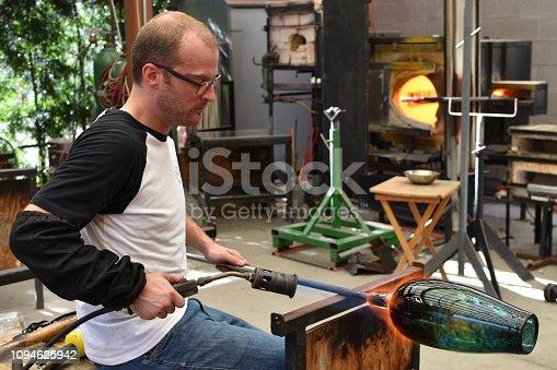 Outdoor craft studio with hotshop equipment