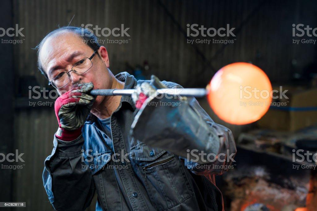 吹玻璃成型熔融玻璃圖像檔