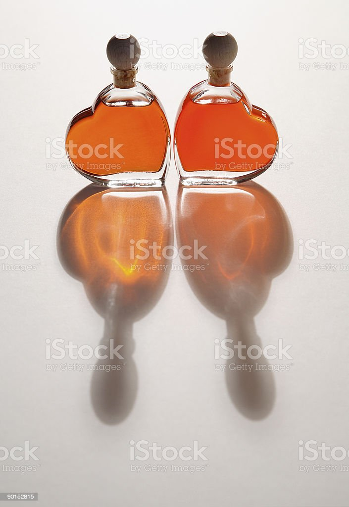 Glass-Bottle Hearts royalty-free stock photo