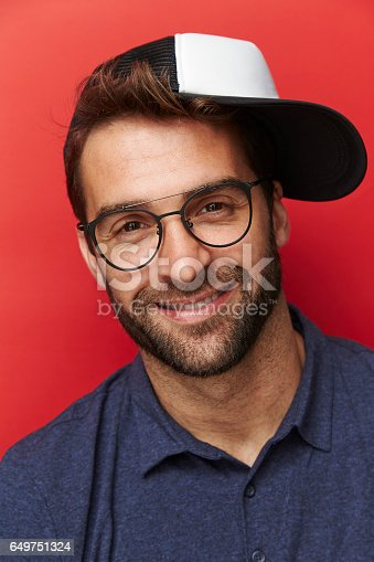 649754038 istock photo Glasses and cap 649751324