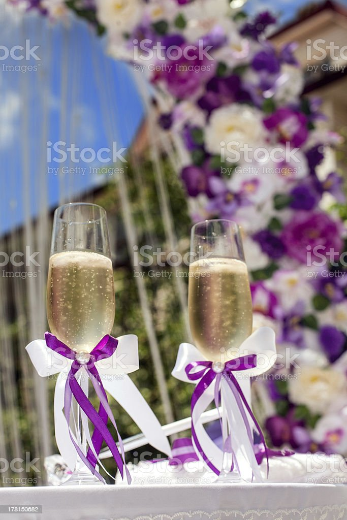 Glasses and wedding royalty-free stock photo