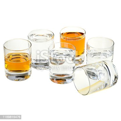 glasses for drinks isolated