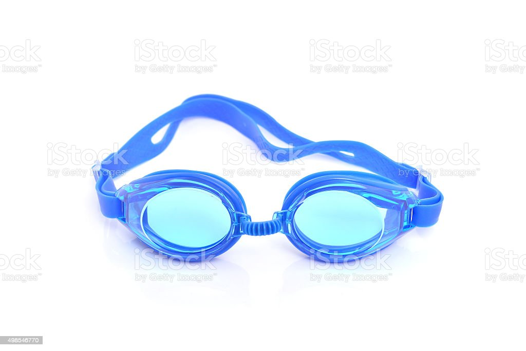 Glasses for swimming Isolated on a white background stock photo