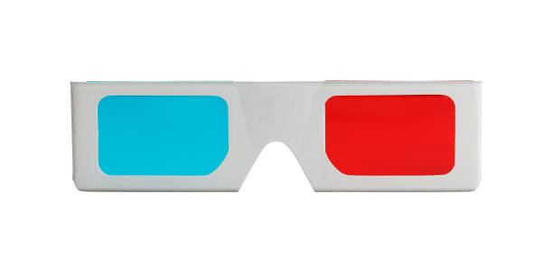 3D Glasses Front stock photo