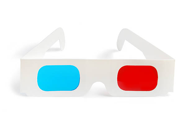 3D glasses - front view stock photo