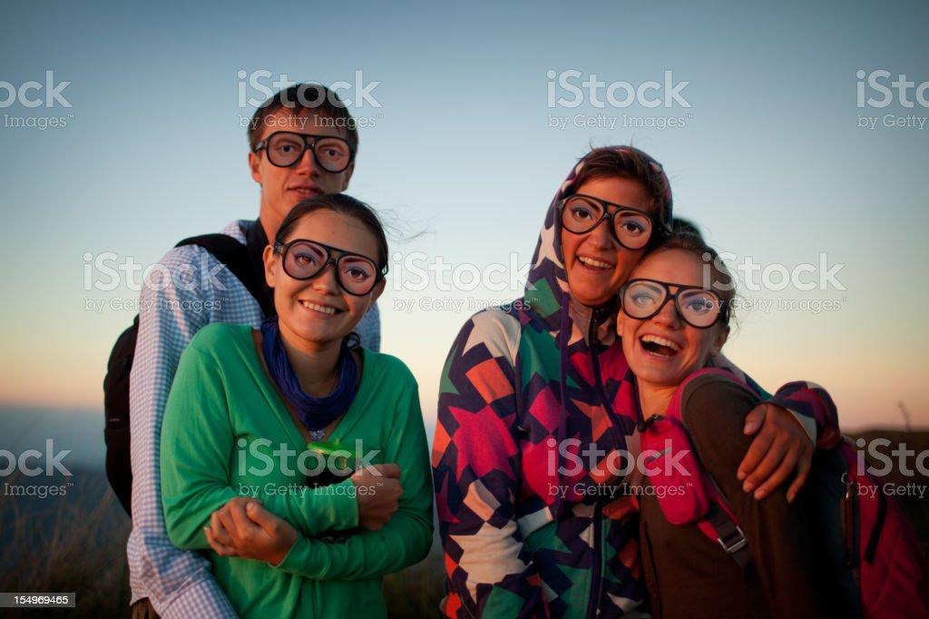 Glasses fun royalty-free stock photo