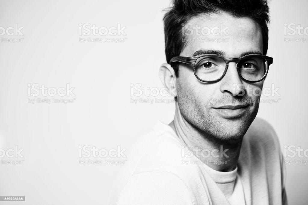 Glasses guy stock photo