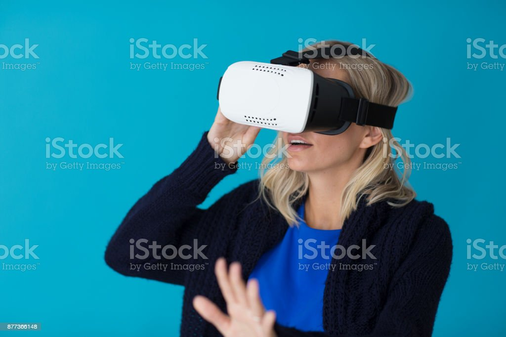 3D glasses headset stock photo