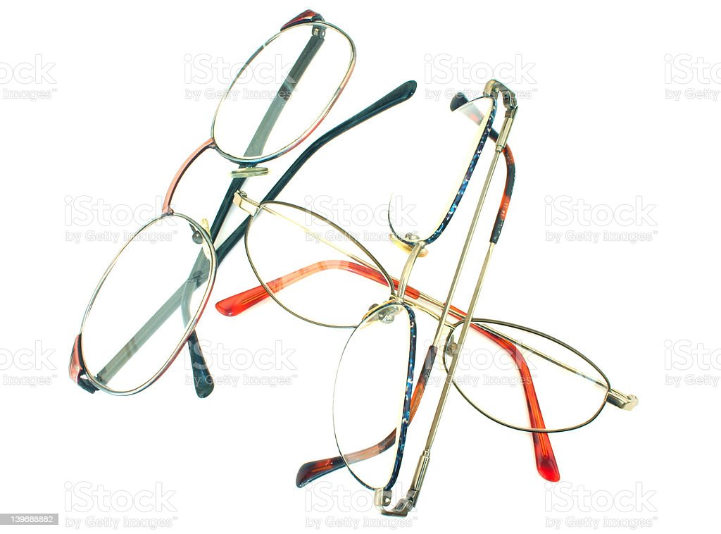 glasses heap - isolated royalty-free stock photo