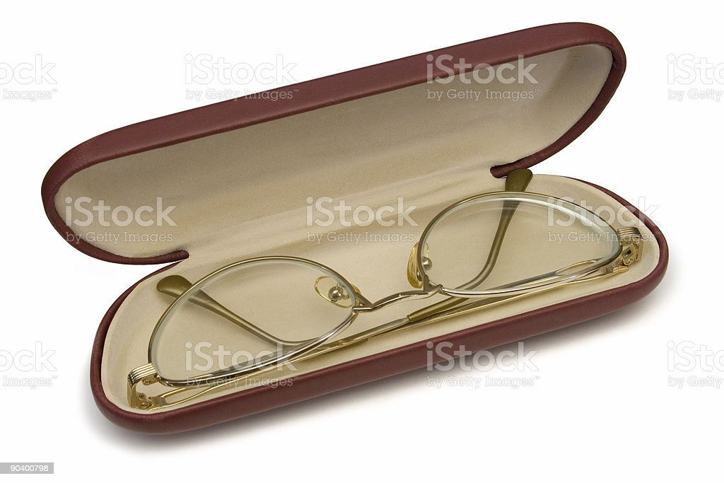 Glasses in case royalty-free stock photo