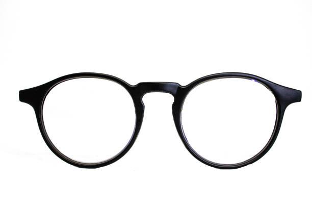 Glasses isolated on white background. stock photo