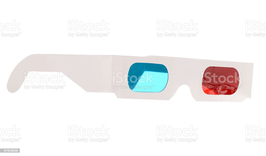 3D glasses isolated on white royalty-free stock photo