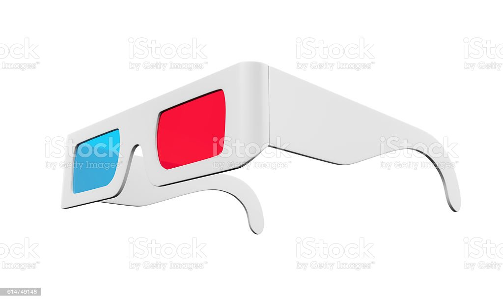 3D Glasses Isolated stock photo