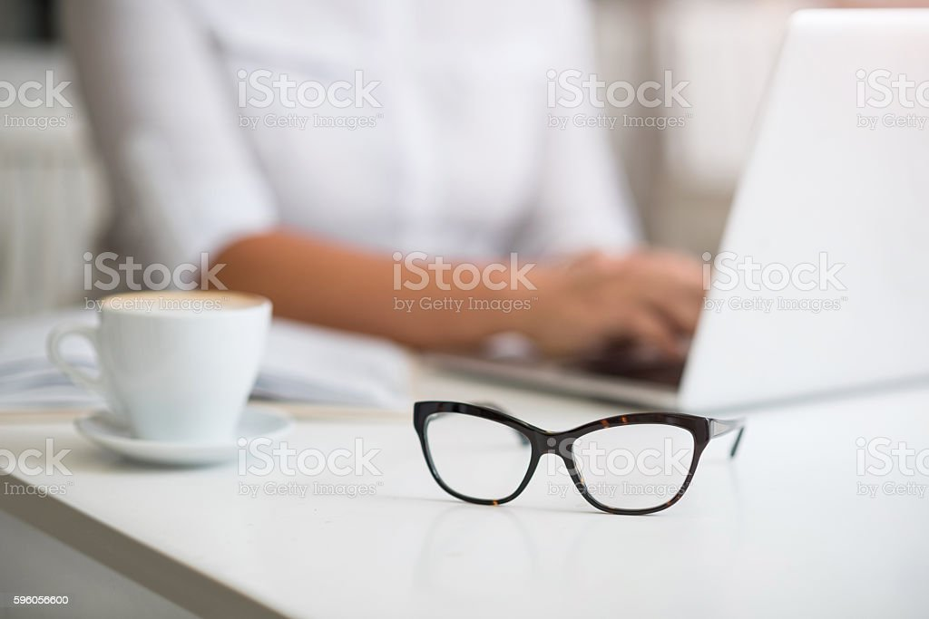 Glasses lying on the table royalty-free stock photo