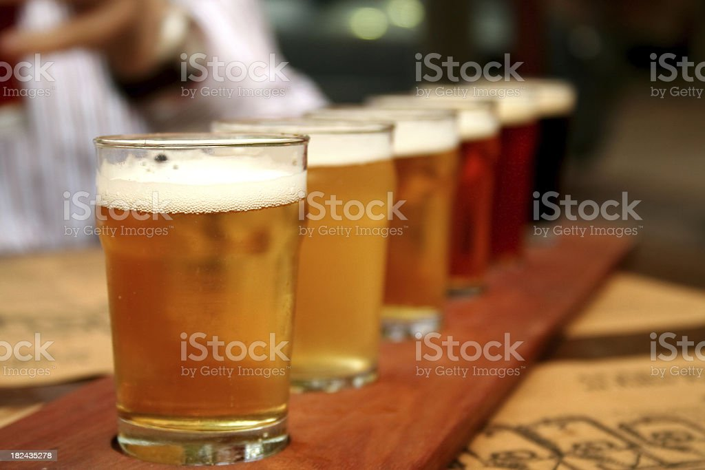Glasses of beer royalty-free stock photo