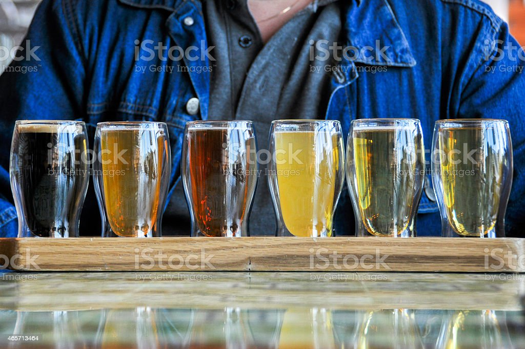 glasses of Beers stock photo