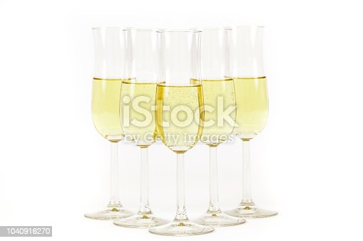 istock Glasses of champagne lined up. For new years eve celebration and special moments. 1040916270
