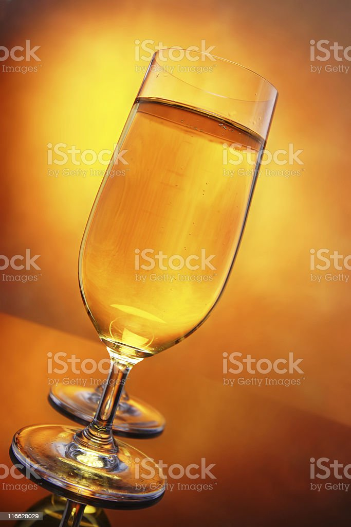 glasses of cider and ice stock photo