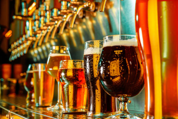Gläser verschiedener Biersorten, Zeit für oktoberfest – Foto