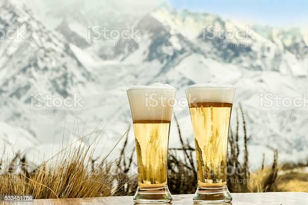 Photo of Glasses of fresh beer