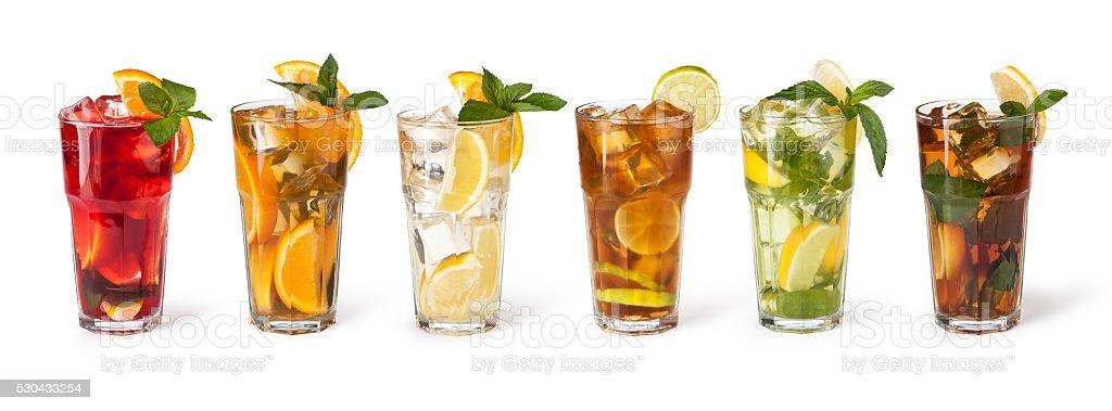 Favorito Bicchieri Di Bevande Alla Frutta Con Cubetti Di Ghiaccio - Foto di  NK69