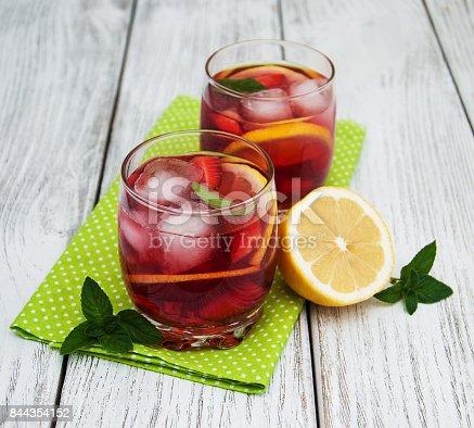 istock Glasses of lemonade with strawberries 844354152