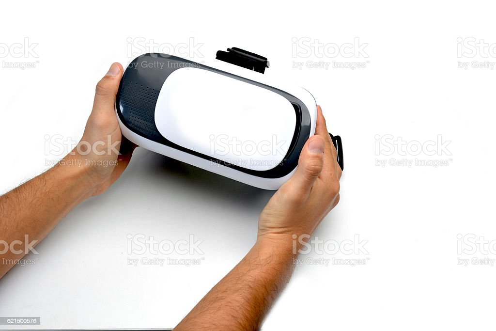 Glasses of reality virtual for smartphone photo libre de droits