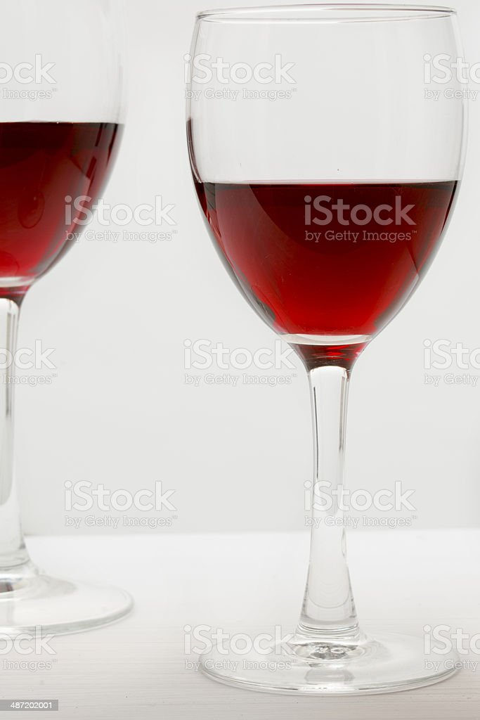 Glasses of red wine royalty-free stock photo