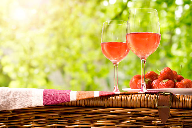 Rose-Wein-Picknick – Foto
